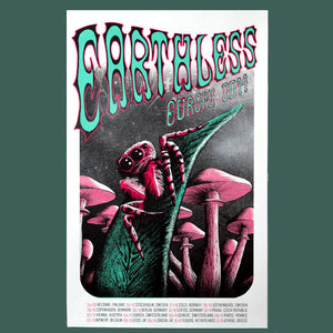 Earthless Europe Tour 2014 Poster- Bingo Merch Official Merchandise Shop Official