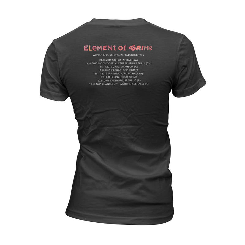 Element Of Crime Alpenländische Qualitätstour für Frauen T-Shirt- Bingo Merch Official Merchandise Shop Official