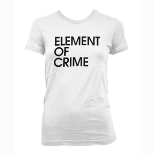 Element Of Crime Element of Crime Logo White - frauen T-Shirt- Bingo Merch Official Merchandise Shop Official