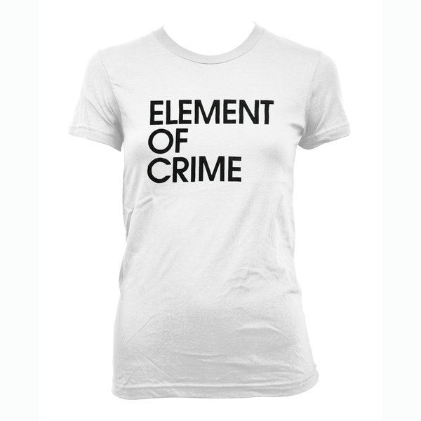 Element Of Crime Element of Crime Logo - weiss für Frauen T-Shirt- Bingo Merch Official Merchandise Shop Official