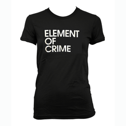 Element Of Crime Element of Crime Logo - schwarz für Frauen T-Shirt- Bingo Merch Official Merchandise Shop Official
