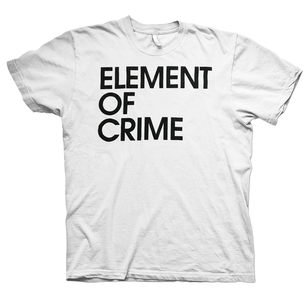 Element Of Crime Element of Crime Logo White T-Shirt- Bingo Merch Official Merchandise Shop Official