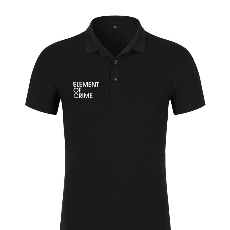 Element Of Crime Element of Crime Logo Polo Shirt für Frauen T-Shirt- Bingo Merch Official Merchandise Shop Official