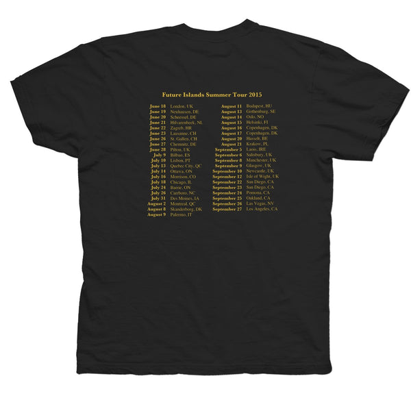 Future Islands Tour 2015 T-Shirt- Bingo Merch Official Merchandise Shop Official