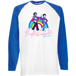 Flight of the Conchords Rainbow Baseball T Longsleeve- Bingo Merch Official Merchandise Shop Official