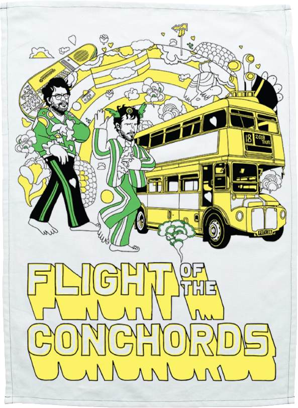 Flight of the Conchords Bus Tea Towel Other- Bingo Merch Official Merchandise Shop Official