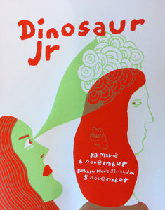 Dinosaur Jr Sweden 2016 Tour Poster from Bingo Merch