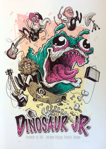 Dinosaur Jr. Brussels 2016 Poster- Bingo Merch Official Merchandise Shop Official