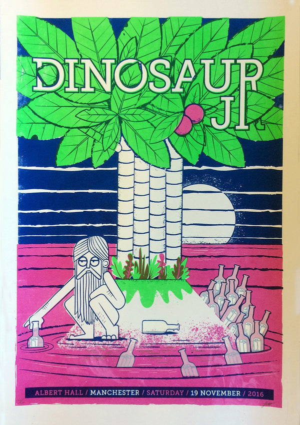 Dinosaur Jr. Manchester 2016 Poster- Bingo Merch Official Merchandise Shop Official