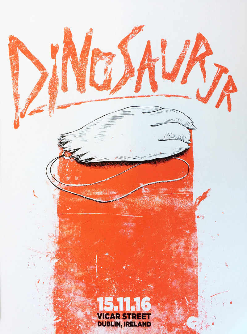 Dinosaur Jr. Dublin 2016 Poster- Bingo Merch Official Merchandise Shop Official