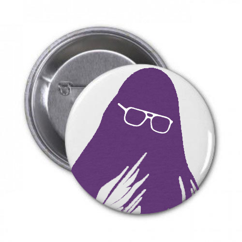 J Mascis Silhouette design on a Pin Badge from Bingo Merch