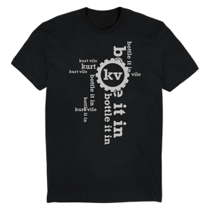 Kurt Vile Planet Phitness design on a black Tshirt from Bingo Merch
