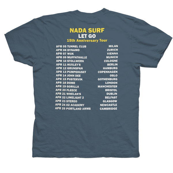 Nada Surf Let Go T-Shirt- Bingo Merch Official Merchandise Shop Official