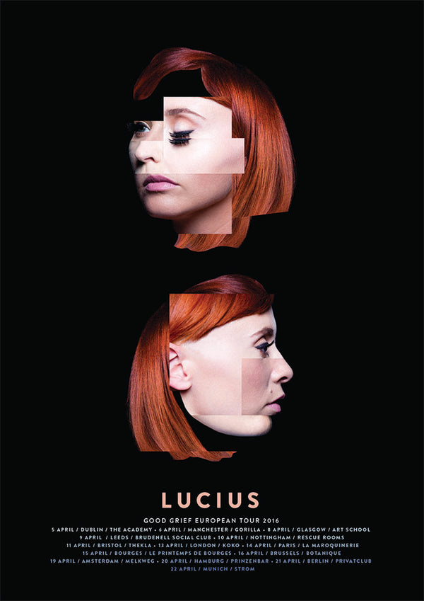 Lucius European Tour 2016 Poster- Bingo Merch Official Merchandise Shop Official