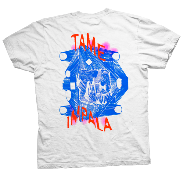 Tame Impala Luca Schenardi White T-Shirt- Bingo Merch Official Merchandise Shop Official