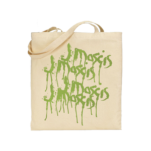 J Mascis Elastic Days artwork on a natural canvas Totebag from Bingo Merch