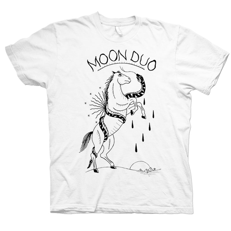 Moon Duo Horse & Snake White T-Shirt- Bingo Merch Official Merchandise Shop Official