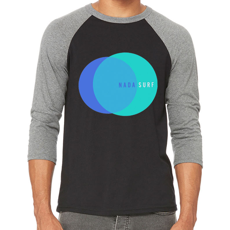 Nada Surf 2 Circles Baseball Tee Longsleeve- Bingo Merch Official Merchandise Shop Official