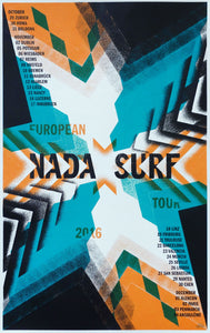 Nada Surf European Tour Fall 2016 Poster- Bingo Merch Official Merchandise Shop Official