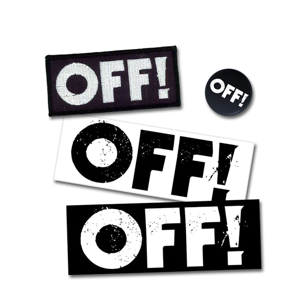 OFF! Patch / Badge / Sticker Pin Badge- Bingo Merch Official Merchandise Shop Official
