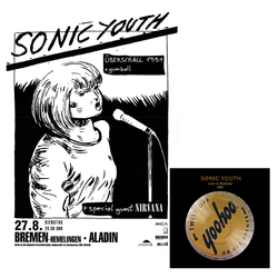 Sonic Youth Bremen Aladin 27.08.1991 Poster + Live In Bremen 1991 Digital Download Poster- Bingo Merch Official Merchandise Shop Official