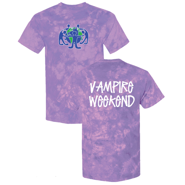 Vampire Weekend Hypercolour Purple T-Shirt T-Shirt- Bingo Merch Official Merchandise Shop Official