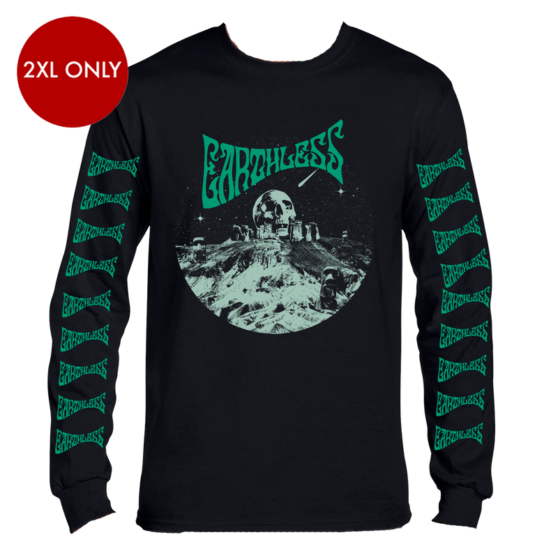 Earthless Skullhenge Green Longsleeve Longsleeve- Bingo Merch Official Merchandise Shop Official