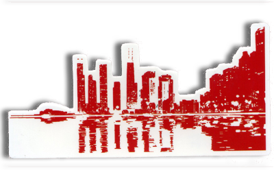 Wilco Cityscape Sticker Other- Bingo Merch Official Merchandise Shop Official