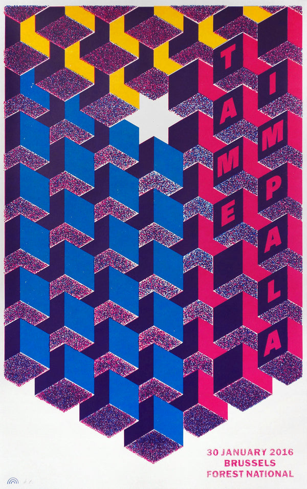 Tame Impala Brussels 2016 Poster- Bingo Merch Official Merchandise Shop Official