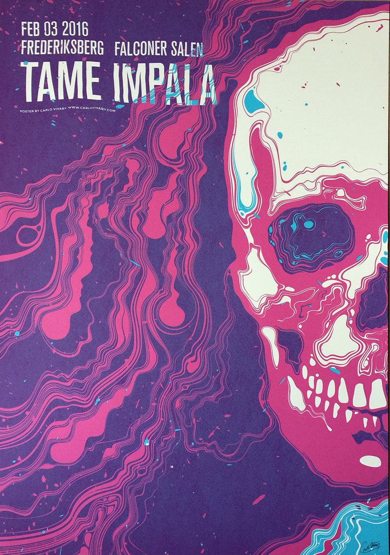 Tame Impala Freidriksberg 2016 Poster- Bingo Merch Official Merchandise Shop Official