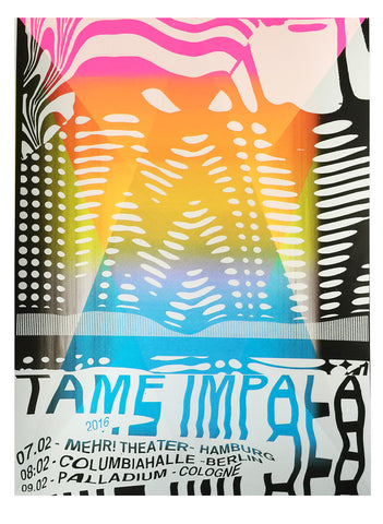 Tame Impala Germany 2016 Poster- Bingo Merch Official Merchandise Shop Official