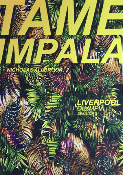 Tame Impala Liverpool 2015 Poster- Bingo Merch Official Merchandise Shop Official