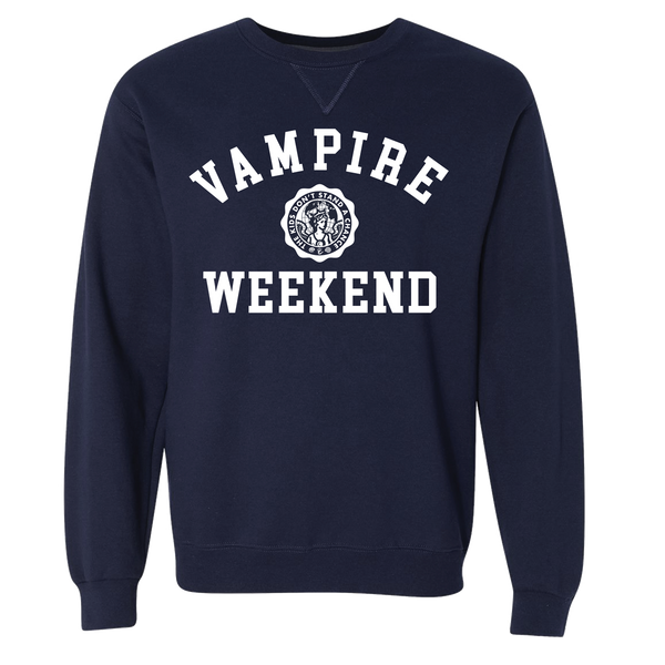 Vampire Weekend Collegiate Sweatshirt Sweatshirt- Bingo Merch Official Merchandise Shop Official