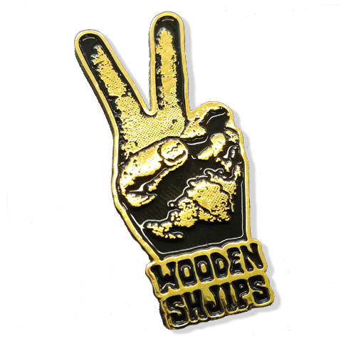 Wooden Shjips V Pin Pin Badge- Bingo Merch Official Merchandise Shop Official