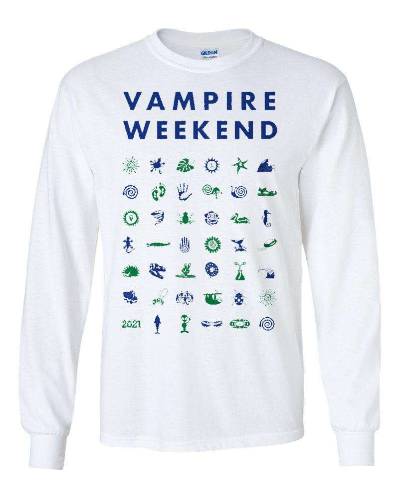 Vampire Weekend Long Sleeve Tour Symbol T-shirt Longsleeve- Bingo Merch Official Merchandise Shop Official