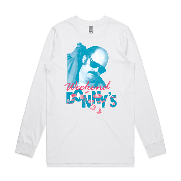 Donny Benet Weekend At Donnys design on a white Longsleeve Tshirt from Bingo Merch