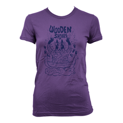 Wooden Shjips West Purple - girls T-shirt- Bingo Merch Official Merchandise Shop Official