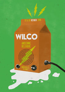 Wilco Brussels 2016 Poster Poster- Bingo Merch Official Merchandise Shop Official