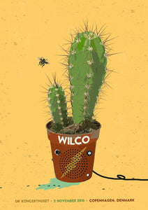 Wilco Copenhagen 2016 Poster Poster- Bingo Merch Official Merchandise Shop Official