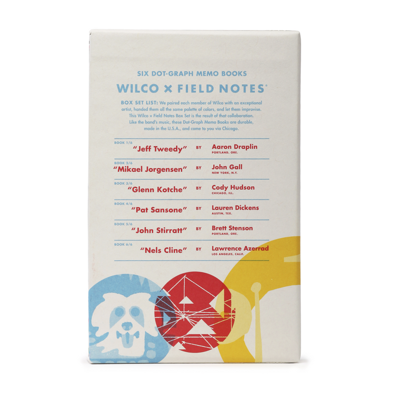 Wilco Wilco x Field Notes Box Set Other- Bingo Merch Official Merchandise Shop Official