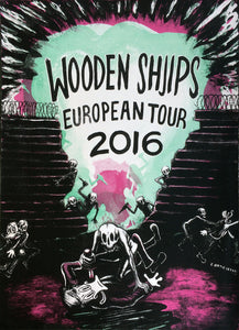 Wooden Shjips European Tour 2016 Poster- Bingo Merch Official Merchandise Shop Official