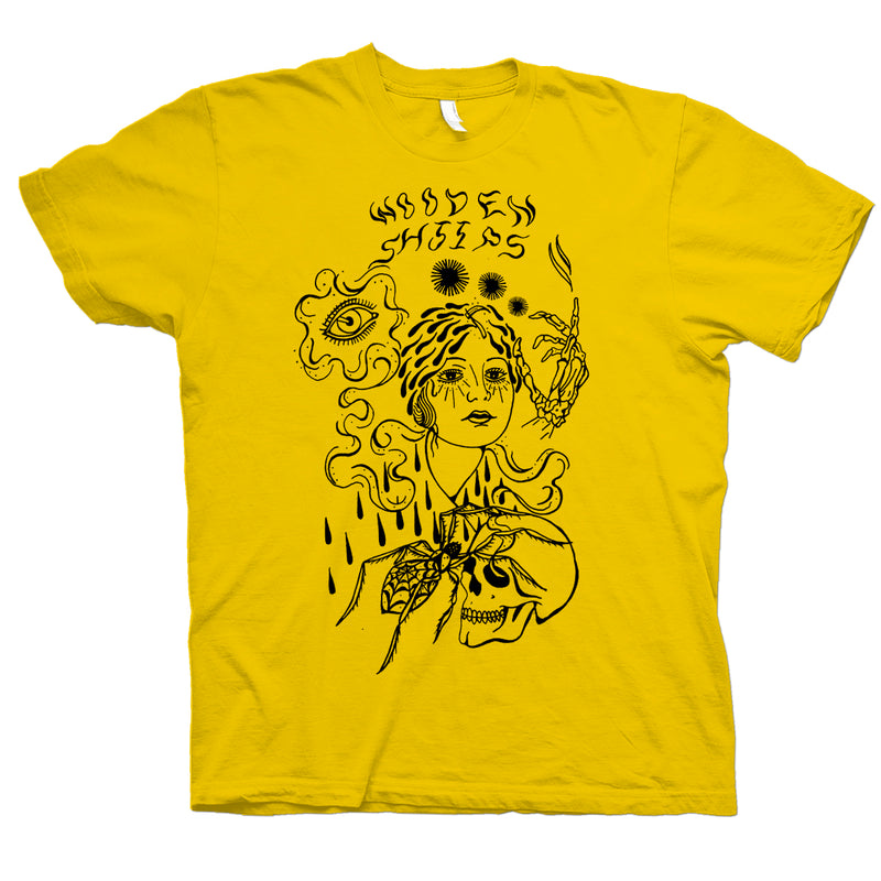 Wooden Shjips Pond Lady Yellow T-Shirt- Bingo Merch Official Merchandise Shop Official