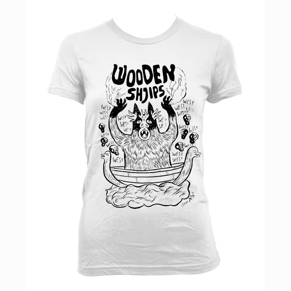 Wooden Shjips West White - girls T-Shirt- Bingo Merch Official Merchandise Shop Official