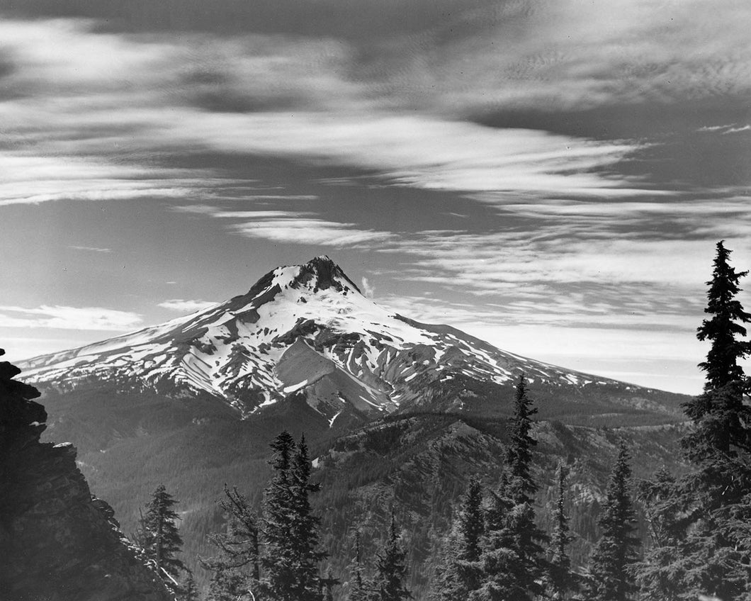 1823B Mt Hood from Boulder Ridge Newton Clark Glacier