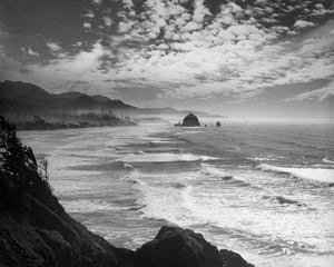 1899A 1930s view of Cannon Beach and Haystack Rock