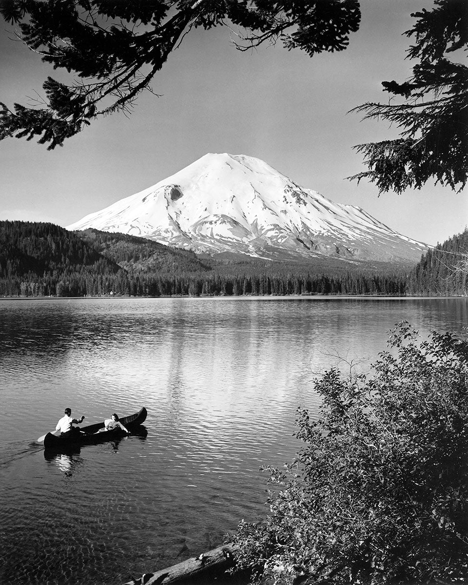3072B Mount St Helens Spirit Lake with canoe