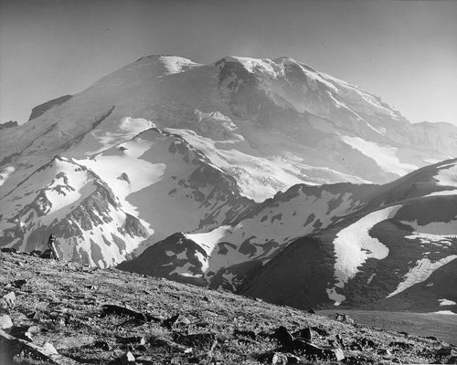 3115 Mt Rainier Emmons and Winthrop Glaciers from Burroughs Mt
