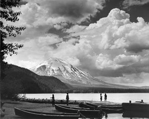3947A Mount St Helens Spirit Lake with canoes