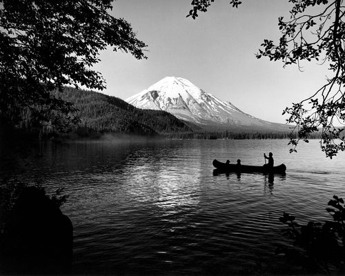 4068A Mount St Helens Spirit Lake with canoe