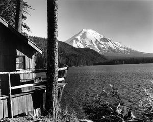 4390A Mount St Helens Spirit Lake with cabin